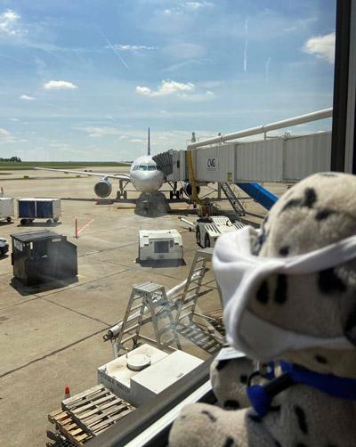 Jet no aeroporto