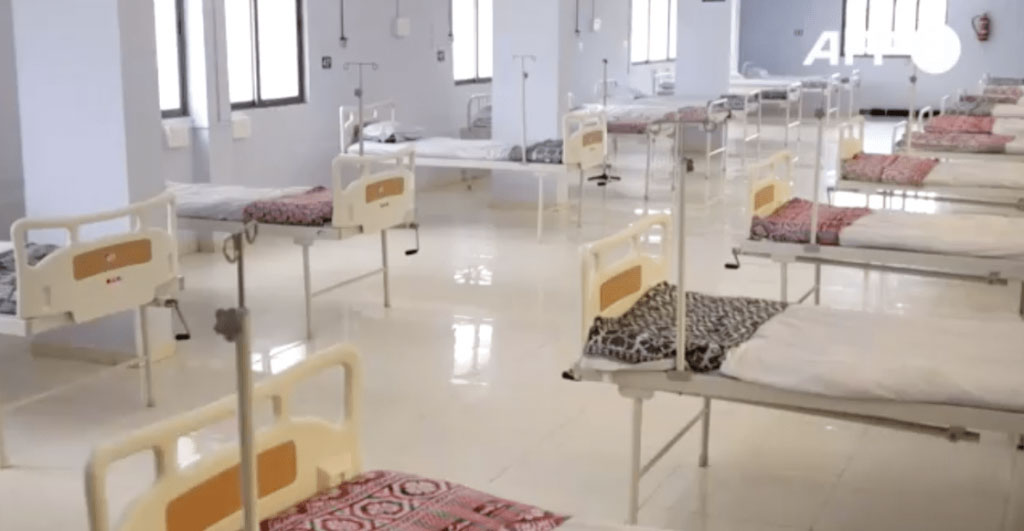 escritório transformado hospital tratar pacientes coronavírus