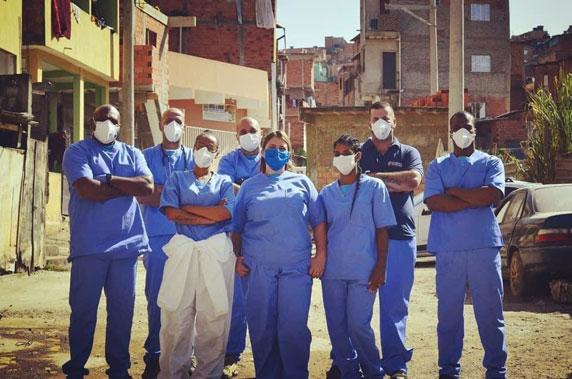 enfermeiros reunidos paraisópolis periferia são paulo