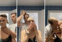 eva raspando o cabelo