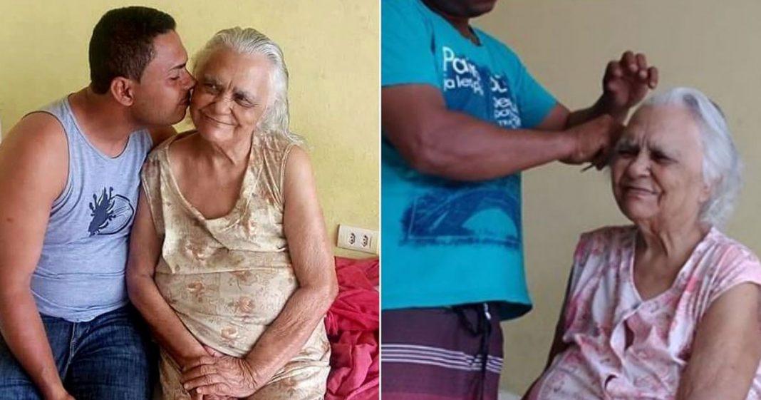 Após mãe ter ficado cega, filho aprende fazer suas unhas e cabelo para tirá-la da depressão 2
