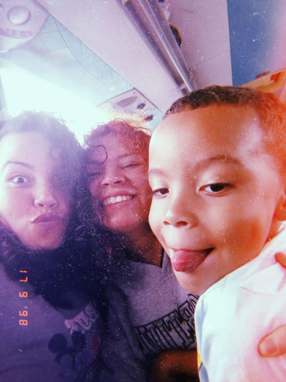 selfie mães filho
