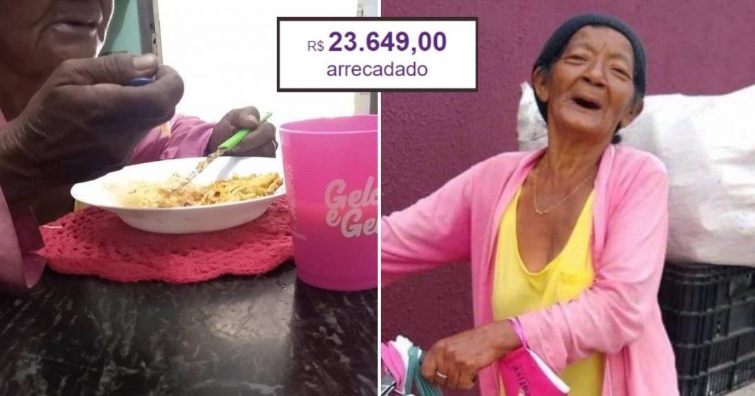 Idosa que estava há dias sem comer comove internautas e vaquinha bate mais de R$23 mil 1
