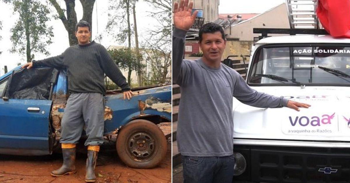 Após ser humilhado por andar de carro velho, jardineiro compra caminhonete e ferramentas novinhas com vaquinha 4
