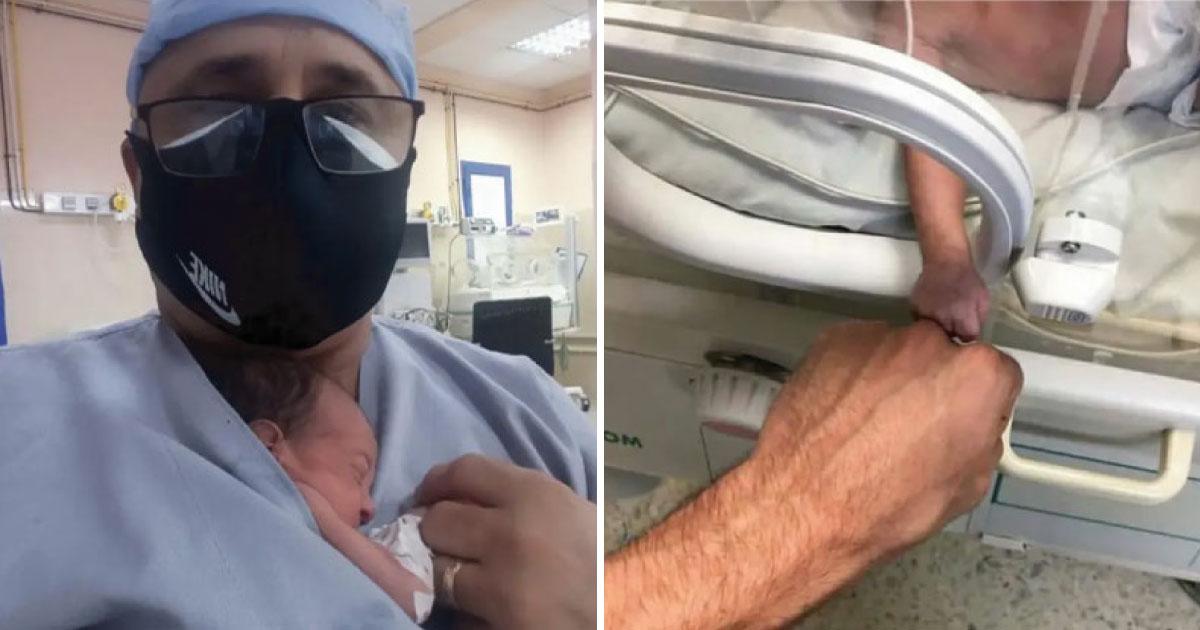 """Enfermeiro cubano salva bebê com o método da """"mãe canguru"""", na Argélia 1"""