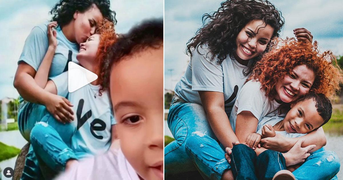 """Filho faz vídeo adorável sobre como é ter duas mães: """"tenho muito orgulho delas"""" 1"""