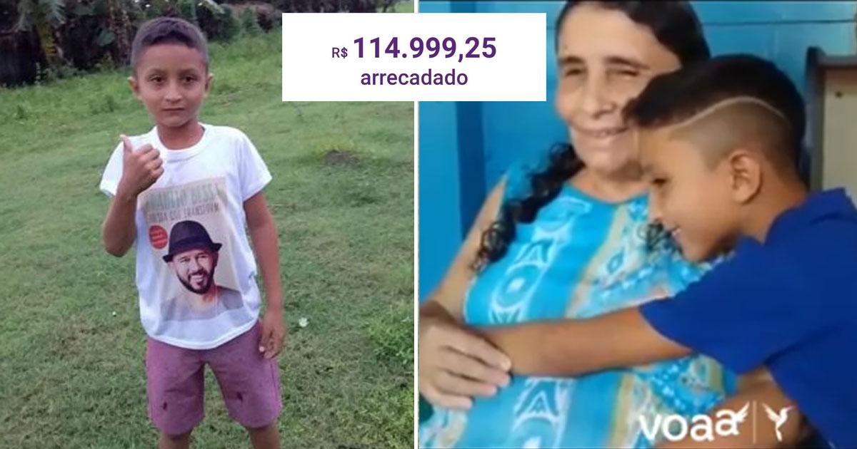 Menino de oito anos que sonha ser poeta 'como Bráulio Bessa' para ajudar a família recebe R$114 mil em doações 1
