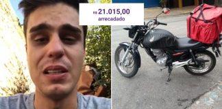 motoboy chora vídeo moto furtada
