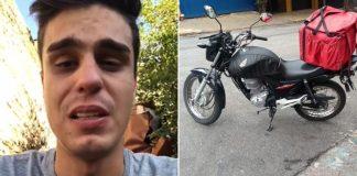 motoboy chora moto furtada