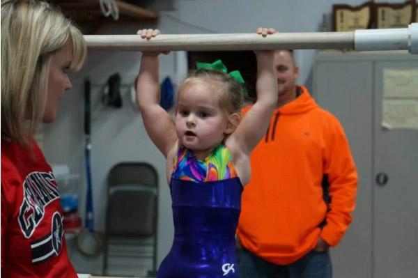 Paige na barra olímpica