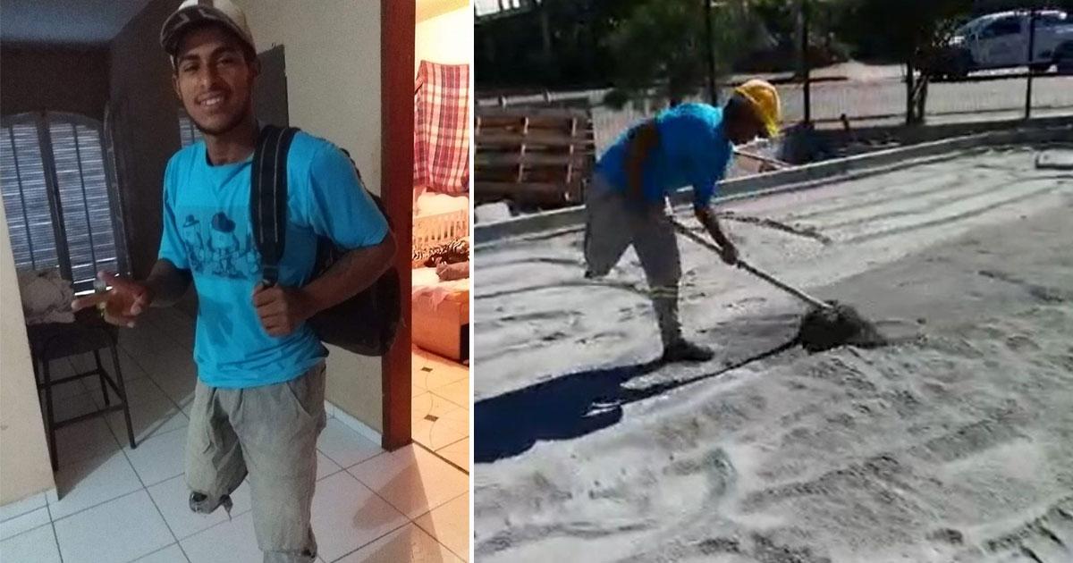 Pedreiro que perdeu perna em acidente sonha ter sua prótese e internautas criam vaquinha 1