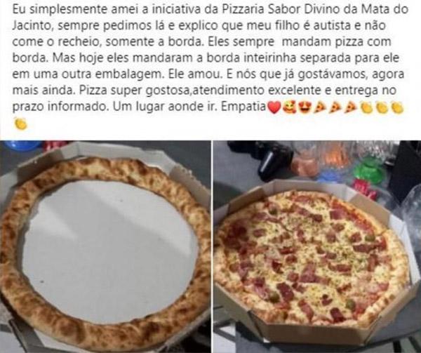 pizzaria manda pizza so com borda