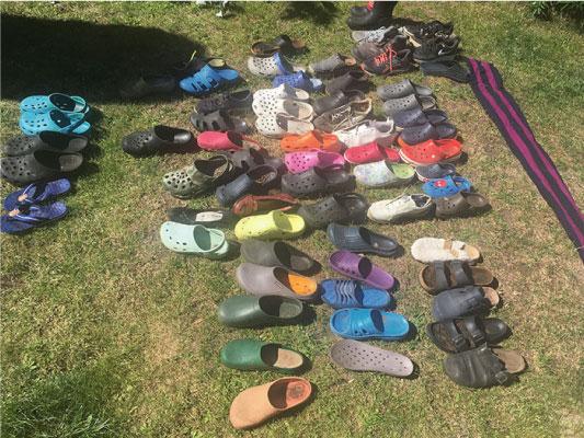 sapatos roubados
