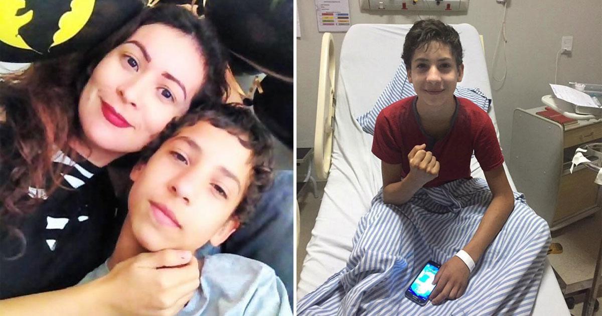 """Um relato poderoso de uma mãe que viu o filho vencer a leucemia após 15 anos de tratamento: """"ele luta desde os 2 anos"""" 1"""