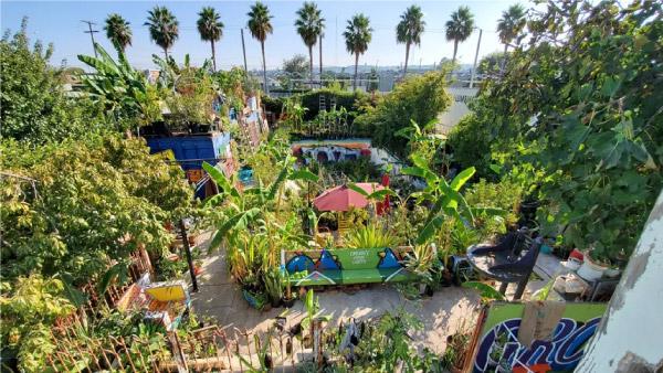 vista do alto de um jardim urbano de Ron