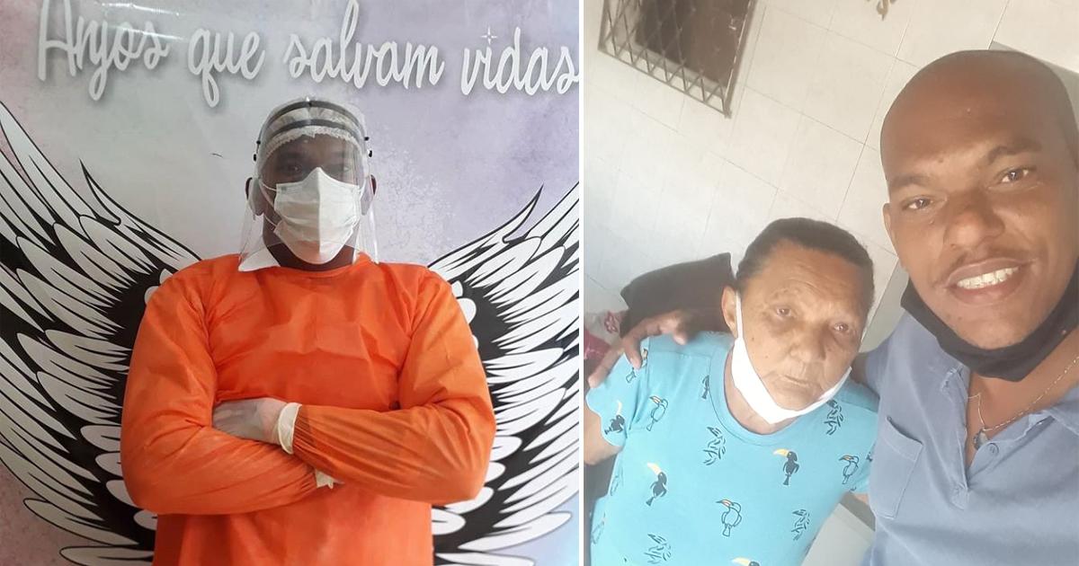técnico de enfermagem vestindo epis