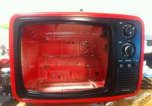 tutorial tv vintage em casinha de gato 4