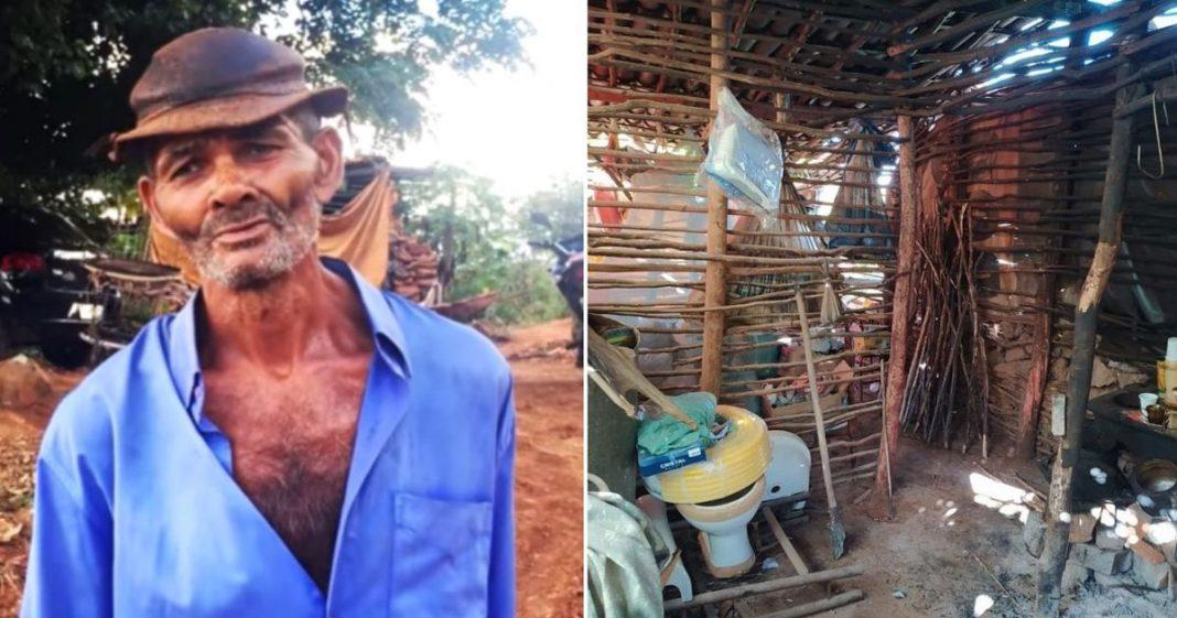 cabana idoso mora cabana sertão pernambuco condições desumanas