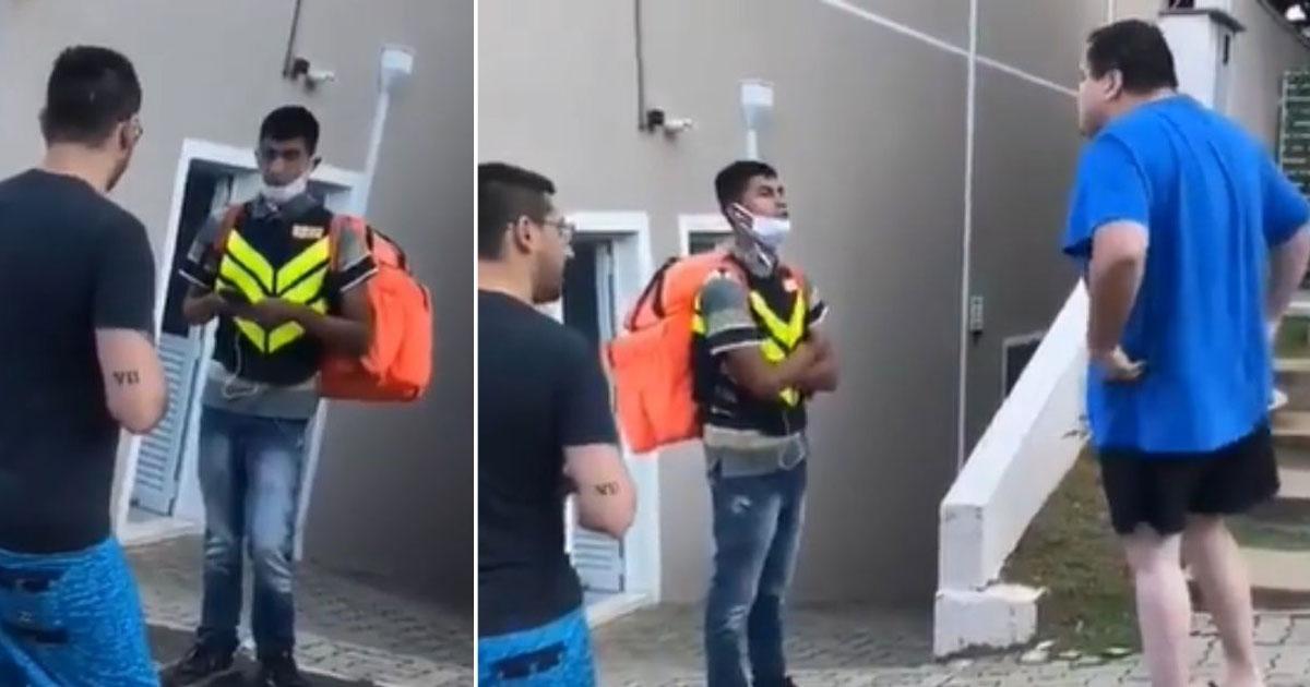motoboy humilhado cliente ofensas racistas