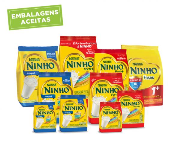 embalagens de leite ninho