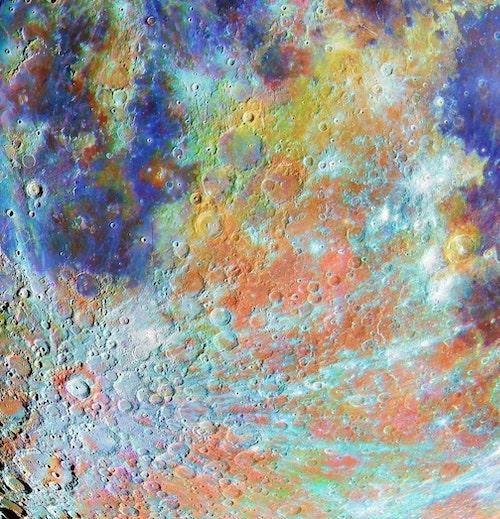 Região da cratera Tycho com cores