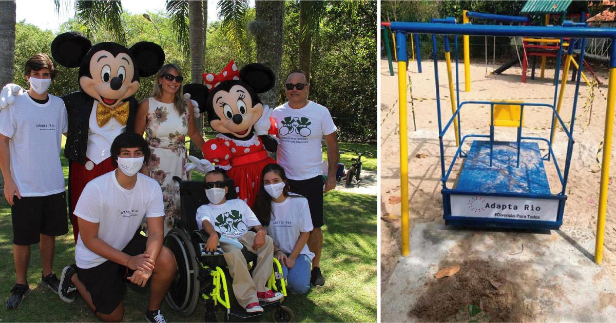 Jovens criam projeto para adaptar parques públicos do RJ para crianças com deficiência 1