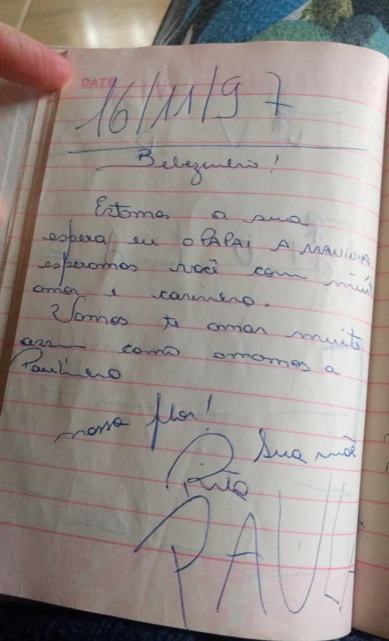 página diário mãe escreveu filha