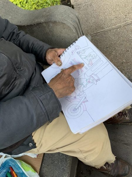 don baldemar mostra desenho