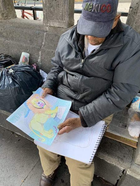 don baldemar desenhando