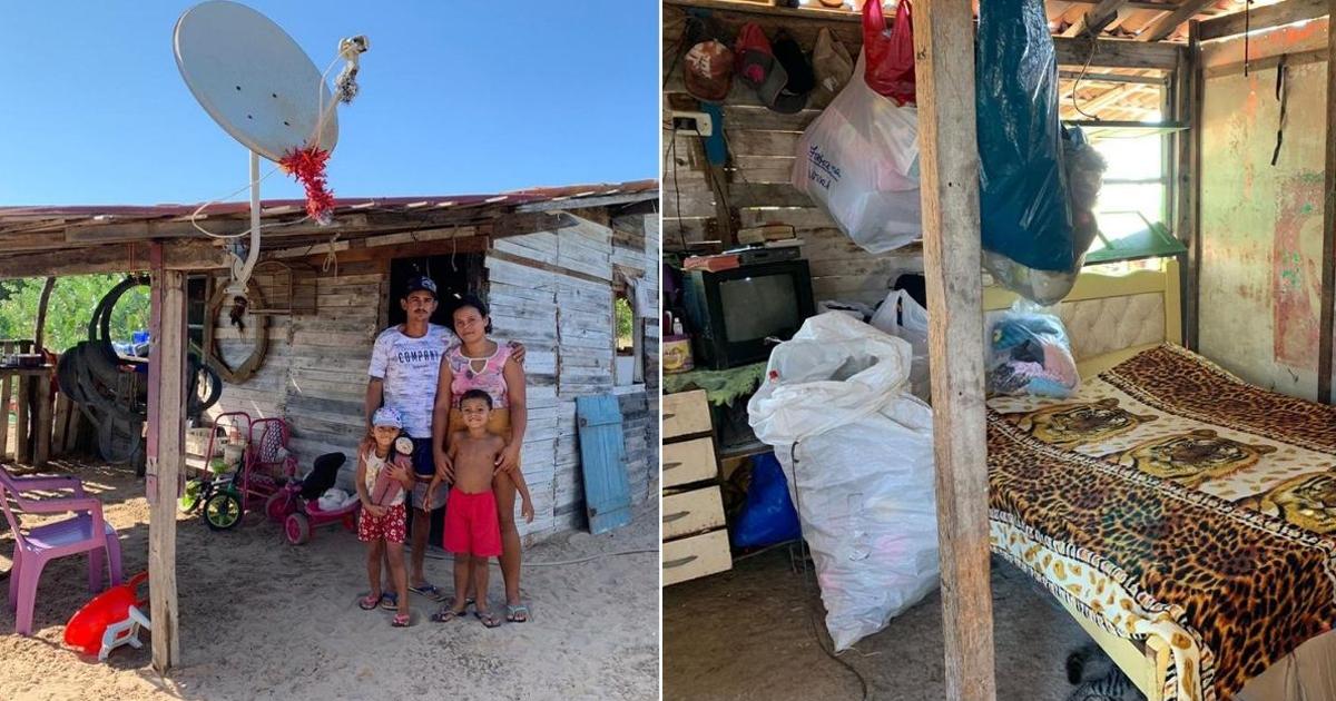 Pais que construíram barraco com pallets encontrados em lixo comovem internautas 1