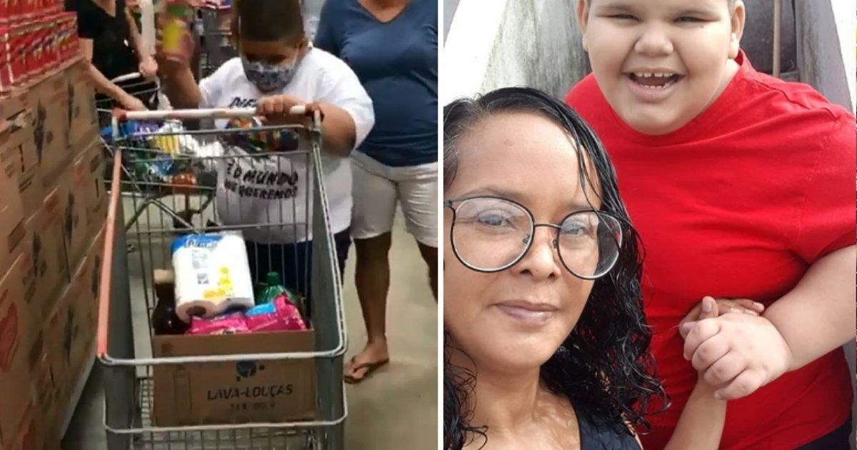 Mãe celebra ida do filho autista ao supermercado após conseguir tratamento com ajuda de vaquinha 2
