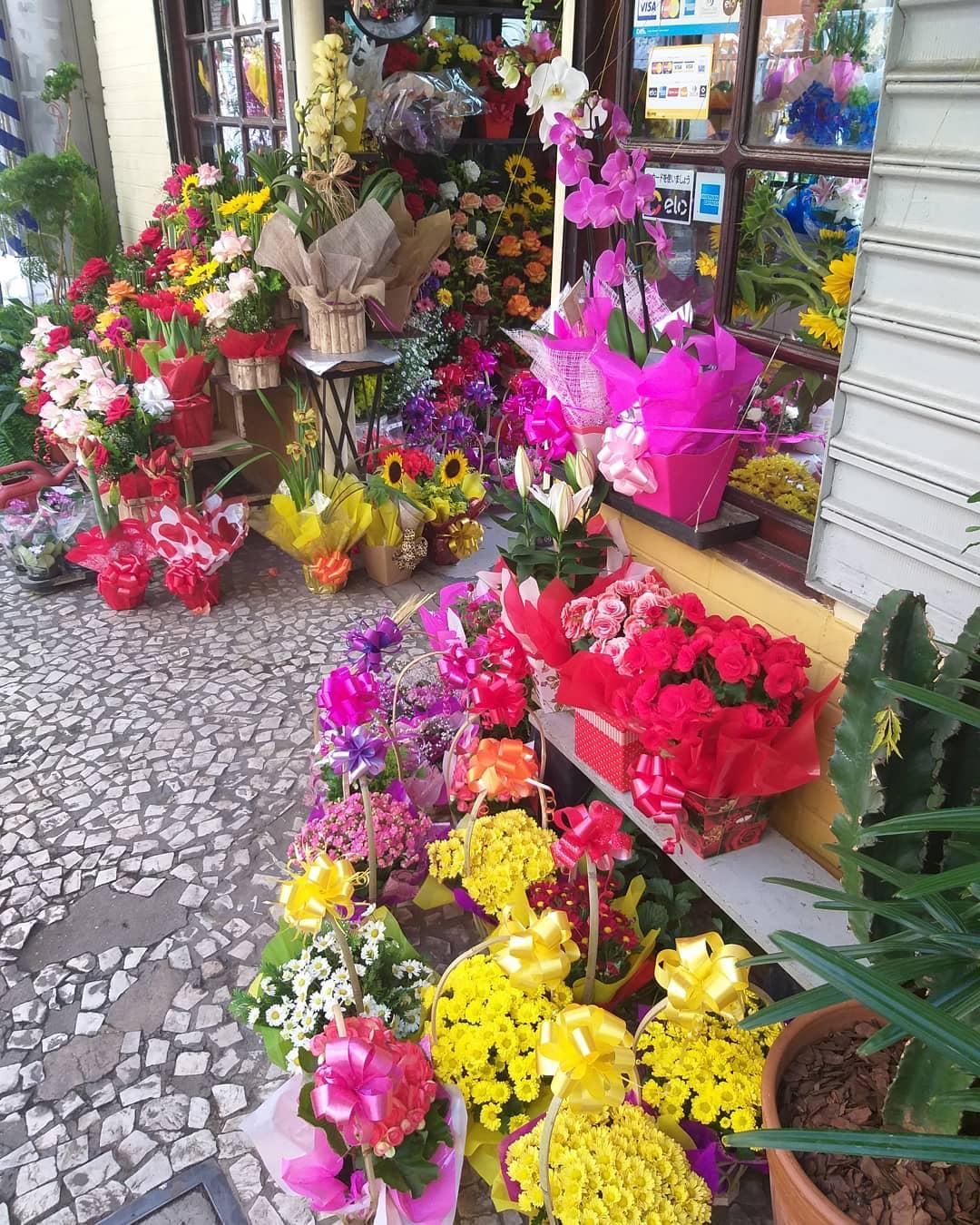 flores calçada floricultura