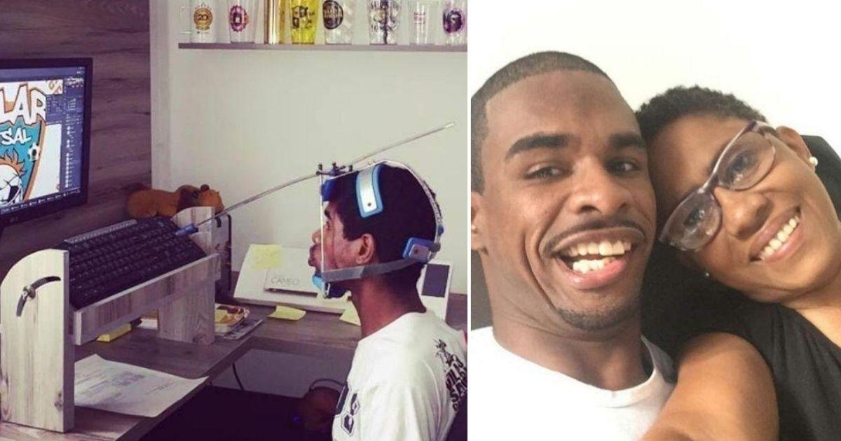 Autodidata, jovem com paralisia cerebral se torna designer gráfico para ajudar a família no sustento 1