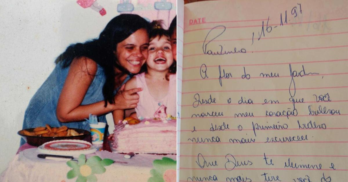 Filha se emociona ao encontrar diário da mãe já falecida, com cartas dedicadas à ela 5