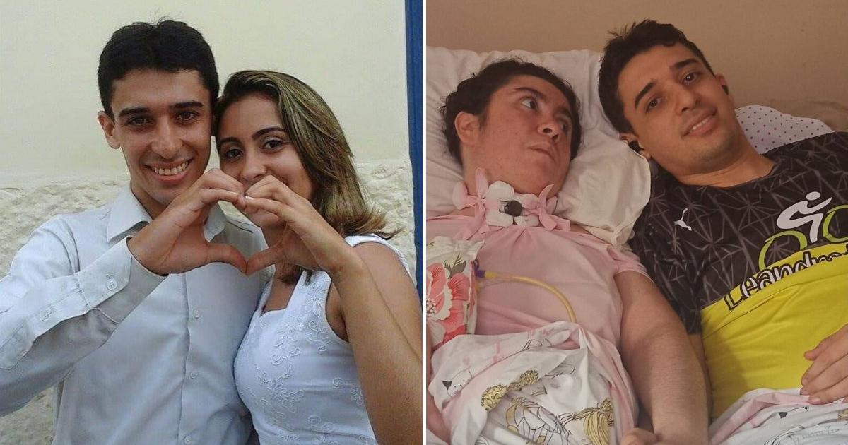 marido deitado cama hospital esposa estado vegetativo