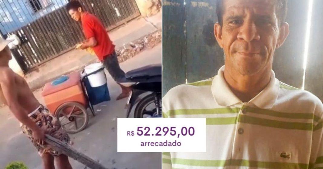 Final feliz: após ser humilhado por jovens, sorveteiro ganha mais de R$ 50 mil em vaquinha 2