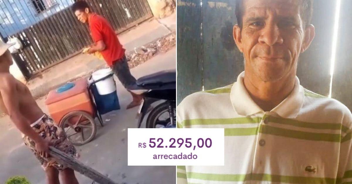Final feliz: após ser humilhado por jovens, sorveteiro ganha mais de R$ 50 mil em vaquinha 1