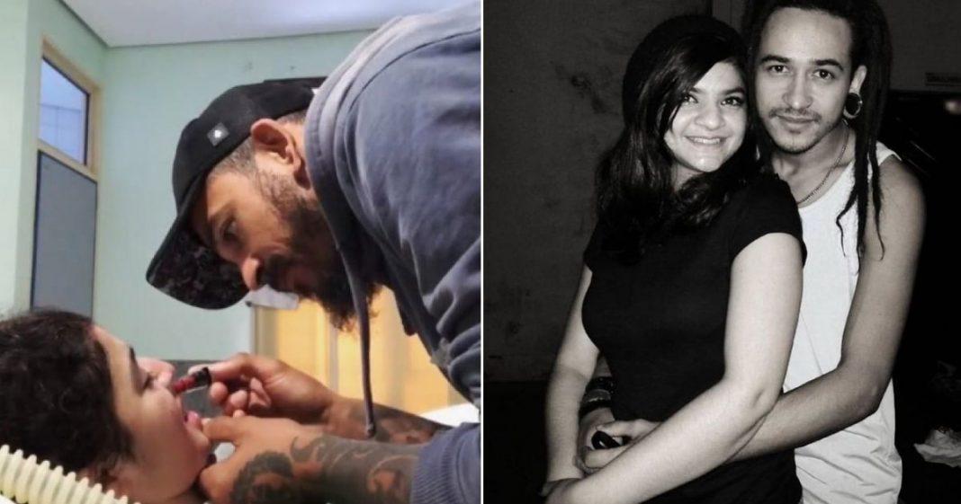 """Tatuador que aprendeu a maquiar esposa tetraplégica a homenageia após sua morte: """"Te amei desde a primeira vez que te vi"""" 2"""