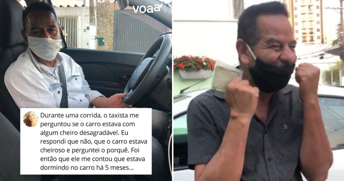 Desconhecidos ajudam taxista que morava há meses no carro e arrecadam R$100 mil em doações 1