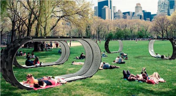 Mut.e também pode ser usado como mobiliario urbano