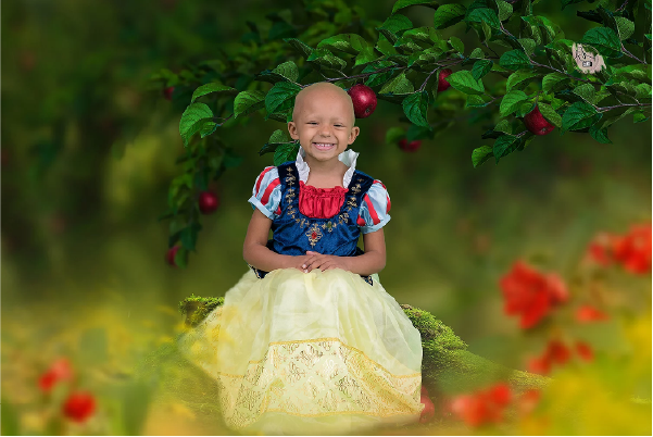 Arianna se veste de princesas da Disney