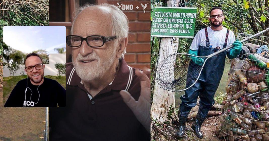 Vendedor de frutas que criou ecobarreira para limpar e salvar rio terá apoio de OMO para expandir projeto 5