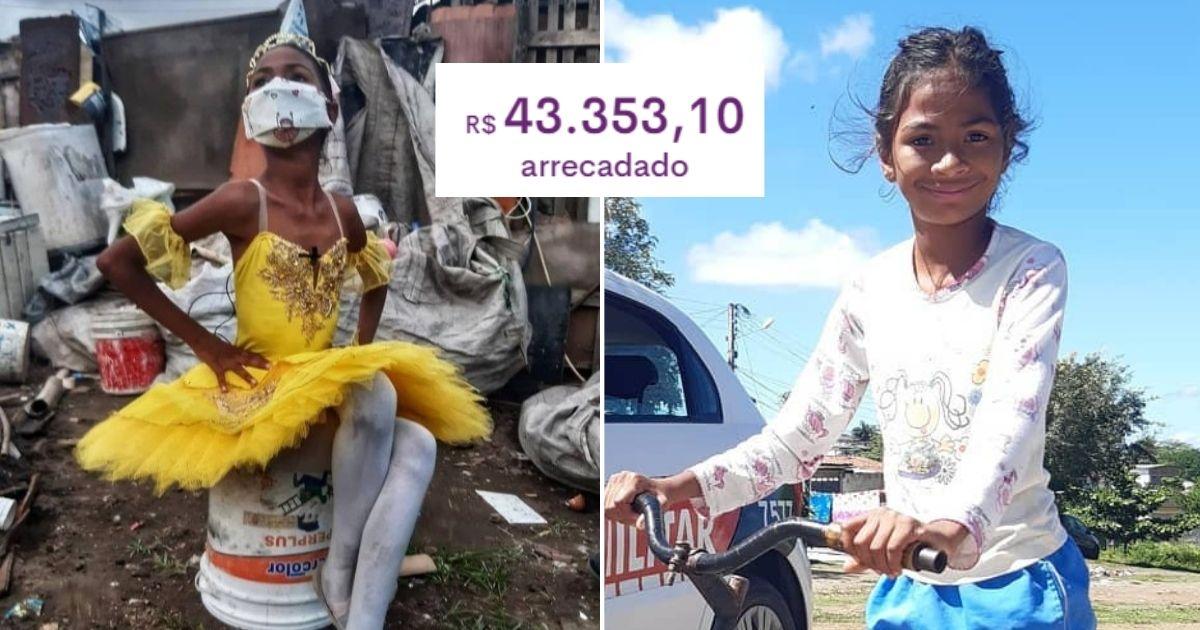 Com vaquinha, bailarina de 9 anos que vive em barraco realizará sonho de construir sua casa (PB) 2