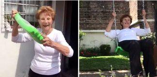 avó sonhava em ganhar balancinho