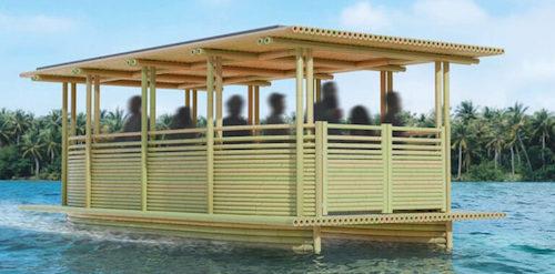 barco aquatico bambu 1