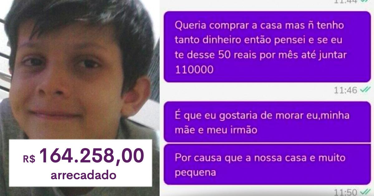 Vaquinha para menino que tentou comprar casa com R$50 mensais na OLX bate meta em 24h 1