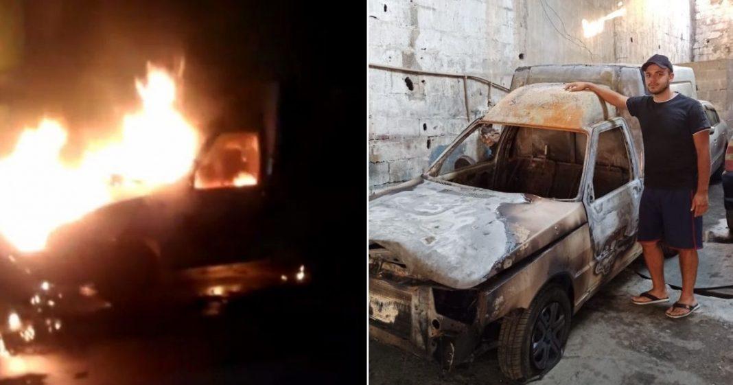 Jovem perde carro em incêndio e recebe mais de R$ 23 mil em doações para comprar um novo! 2