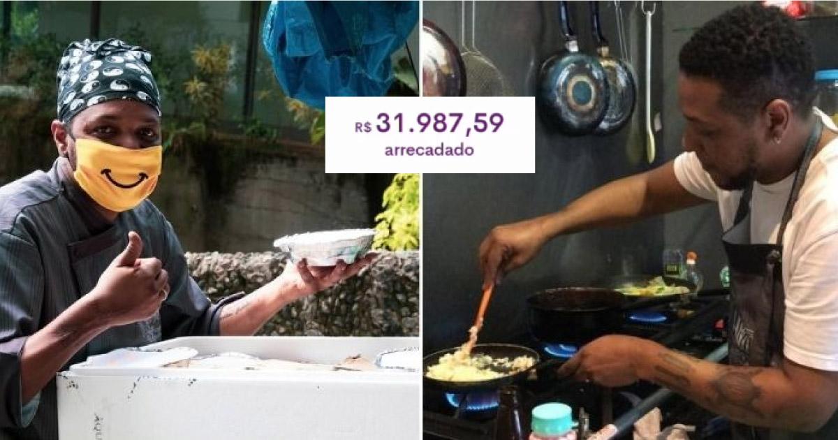 Chef distribui quentinhas para moradores de rua