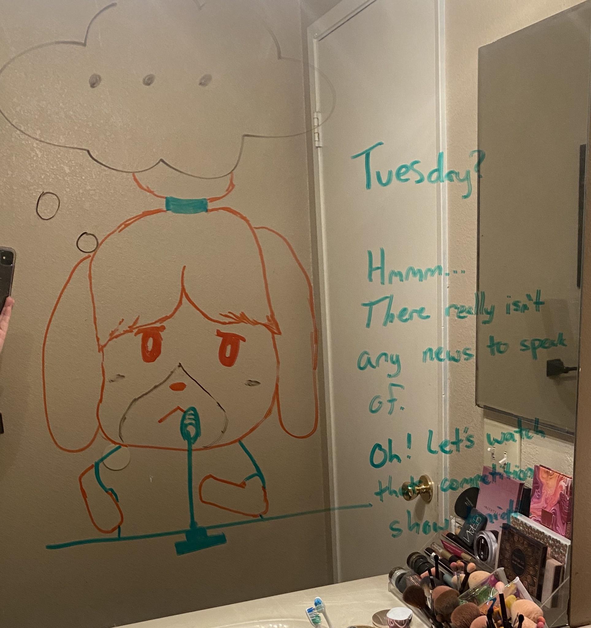 Marido faz desenhos hilários no espelho do banheiro para esposa ir trabalhar mais relaxada 9