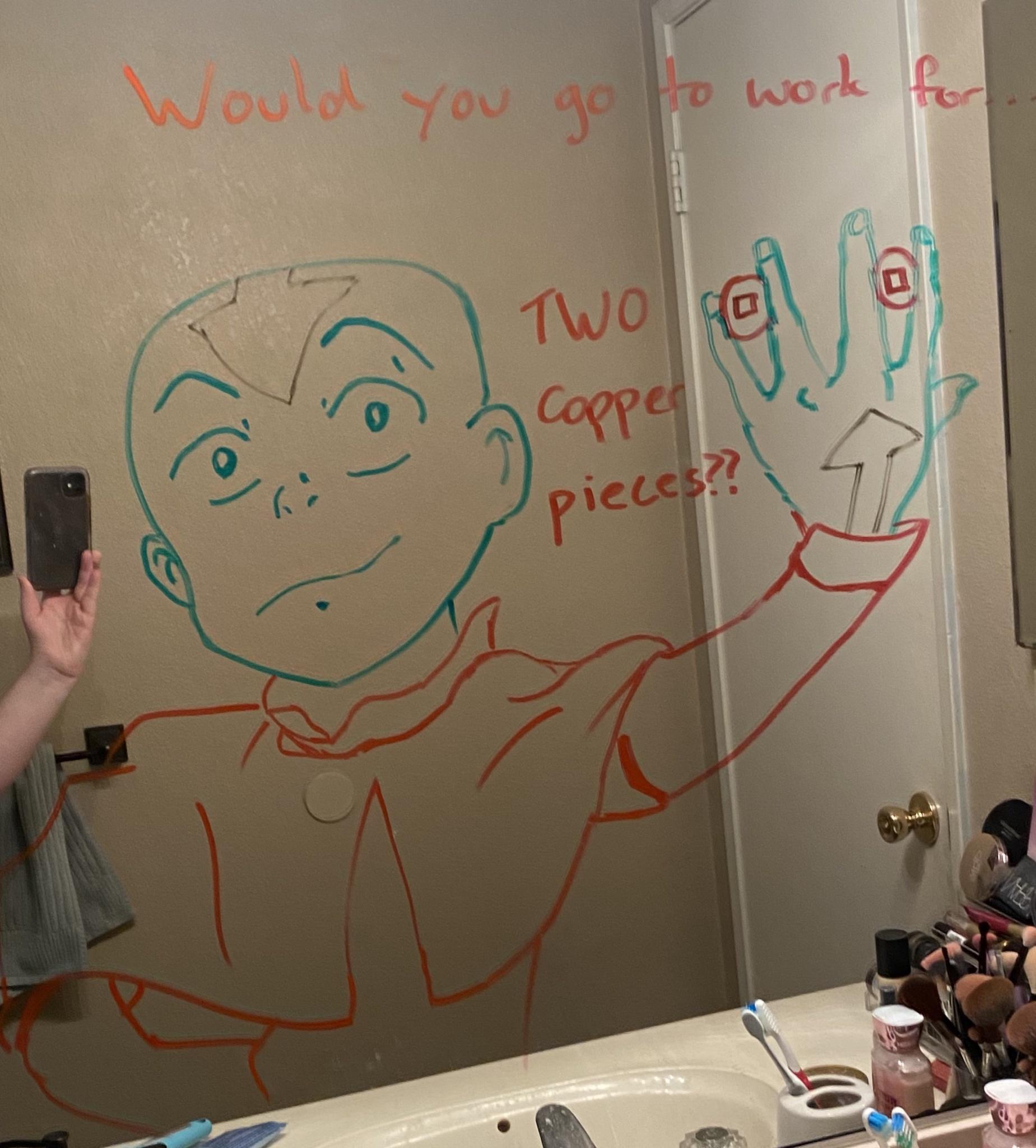 Marido faz desenhos hilários no espelho do banheiro para esposa ir trabalhar mais relaxada 8